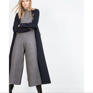Zara Knit Culotte Jumpsuit